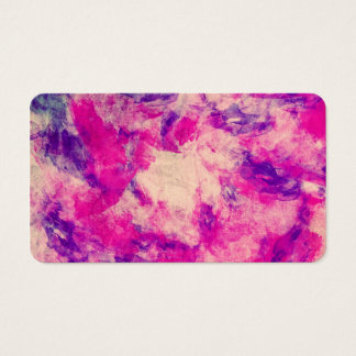 Vintage Watercolor Pattern Abstract Pink Purple Business Card