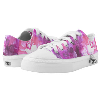 Vintage Watercolor Roses Flowers Low Top Shoes Printed Shoes