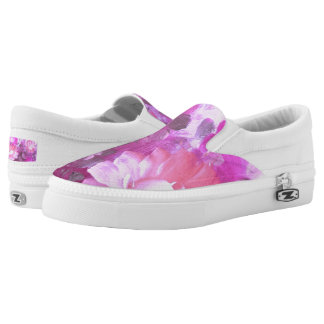 Vintage Watercolor Roses Flowers Slip On Shoes
