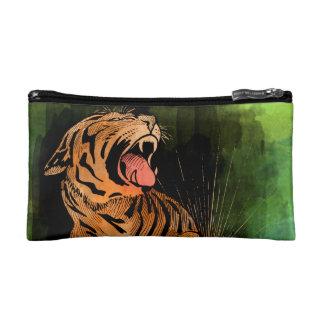 Vintage watercolor Tiger Cosmetics Bags