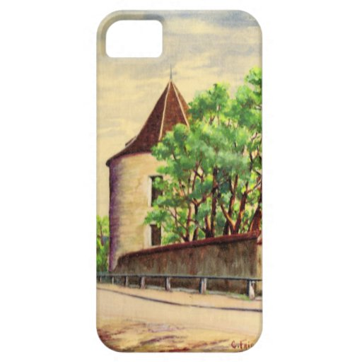 Vintage watercolour  A vineyard in France iPhone 5 Cases
