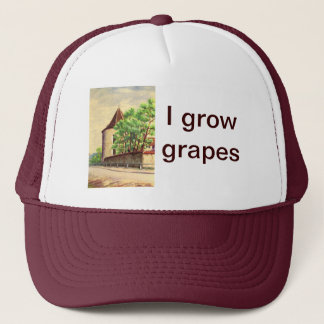 Vintage watercolour  A vineyard in France Trucker Hat