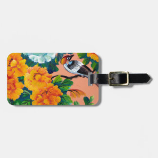Vintage Watercolour Birds Luggage Tag