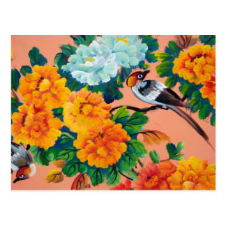 Vintage Watercolour Birds Postcard