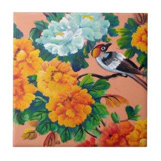 Vintage Watercolour Birds Tile