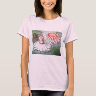 Vintage Waterlilies Flowers in a Garden Pond T-Shirt