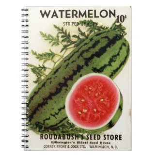 Vintage Watermelon Seed Packet Design Note Books