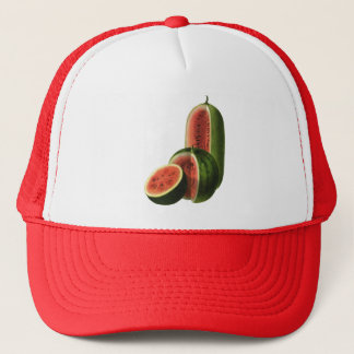 Vintage Watermelons Tall Round, Organic Food Fruit Trucker Hat