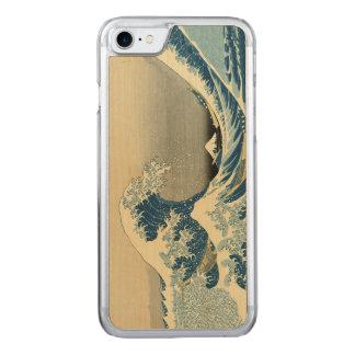Vintage Waves Ocean Sea Boat Carved iPhone 8/7 Case