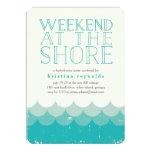 Vintage Waves Shore Weekend Getaway Invitation