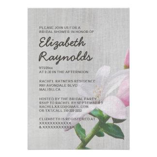 Vintage Waxflower Bridal Shower Invitations Announcements