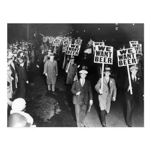 Vintage We Want Beer Prohibition Protest Postcard