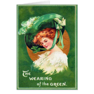 Vintage Wearing Of The Green St Patrick s Day Card
