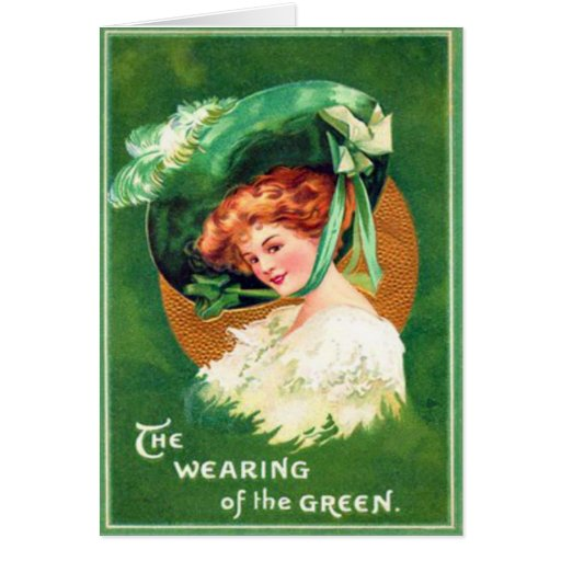 Vintage Wearing Of The Green St Patrick's Day Card