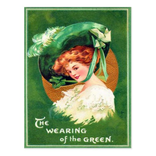Vintage Wearing Of The Green St Patrick's Day Card Postcards