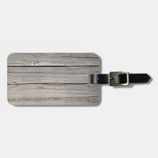 Vintage Weathered Wood Background - Old Board Luggage Tag