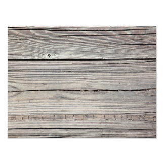 Vintage Weathered Wood Background - Old Board Photo Print