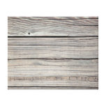 Vintage Weathered Wood Background - Old Board Stretched Canvas Print