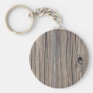 Vintage Weathered Wood Background - Old Wooden Key Ring