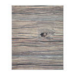 Vintage Weathered Wood Background - Old Wooden Stretched Canvas Prints