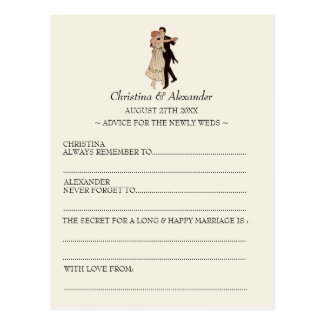 Vintage Wedding Ad Lib Cards Advice 1920 s Theme Postcard