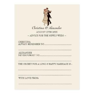 Vintage Wedding Ad Lib Cards Advice 1920's Theme