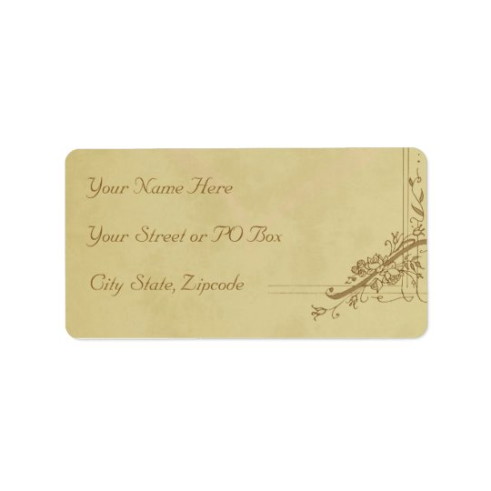 Vintage Wedding Address Label