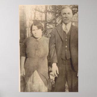 Vintage Wedding Anniversary Poster