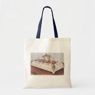 Vintage Wedding Banquet Table Canvas Bags