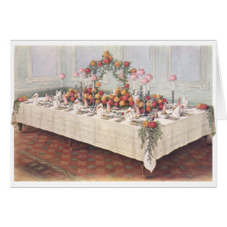 Vintage Wedding Banquet Table Greeting Card
