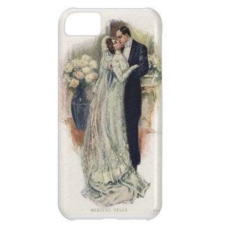 Vintage Wedding Bells Bride And Groom Case For iPhone 5C