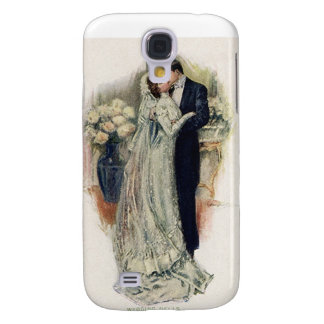Vintage Wedding Bells Bride And Groom Galaxy S4 Case