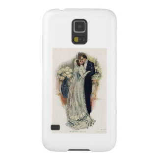 Vintage Wedding Bells Bride And Groom Galaxy S5 Cases