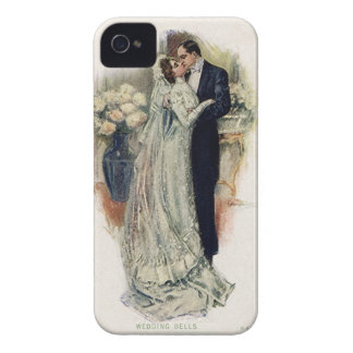 Vintage Wedding Bells Bride And Groom Case-Mate iPhone 4 Case