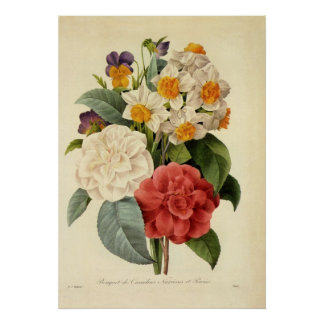 Vintage Wedding Bouquet, Blooming Flowers Poster