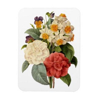 Vintage Wedding Bouquet, Blooming Flowers Vinyl Magnets