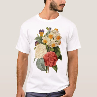 Vintage Wedding Bouquet, Blooming Flowers T-Shirt
