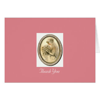 Vintage Wedding & Bridal Shower Thank You Note Note Card