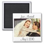 Vintage Wedding Bride and Groom, Happy Newlyweds Magnet