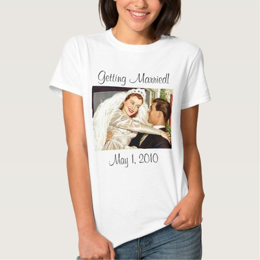 Vintage Wedding Bride and Groom, Happy Newlyweds T-shirt