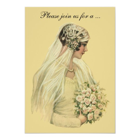 Vintage Wedding Bride, Bridal Shower Invitation
