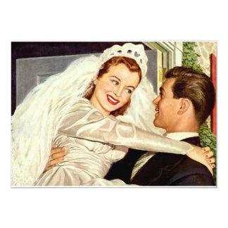 Vintage Wedding Bride Groom Newlywed Save the Date 13 Cm X 18 Cm Invitation Card