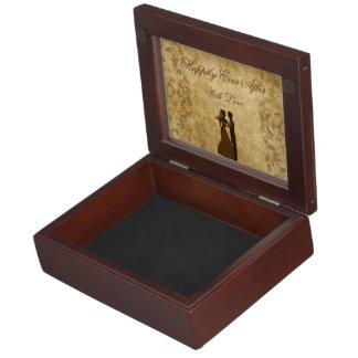 Vintage wedding Bride & Groom Once upon a time Keepsake Box