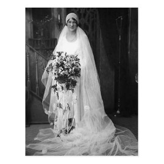 Vintage Wedding Bride Postcard
