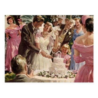 Vintage  Wedding Ceremony Postcard
