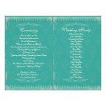 Vintage Wedding Ceremony Program 21.5 Cm X 28 Cm Flyer