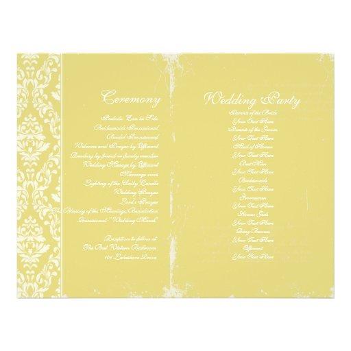 Vintage Wedding Ceremony Program Full Colour Flyer