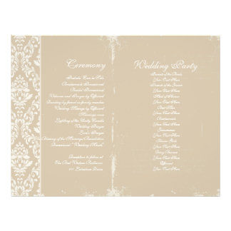 Vintage Wedding Ceremony Program Full Colour Flyer