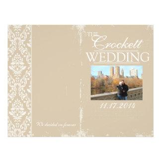 Vintage Wedding Ceremony Program Personalized 21.5 Cm X 28 Cm Flyer