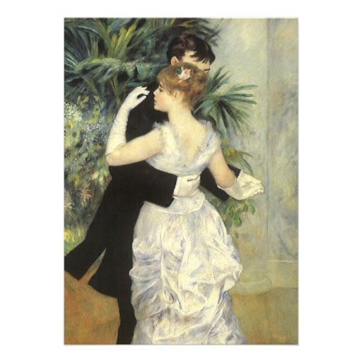 Vintage Wedding, City Dance by Renoir Custom Invite